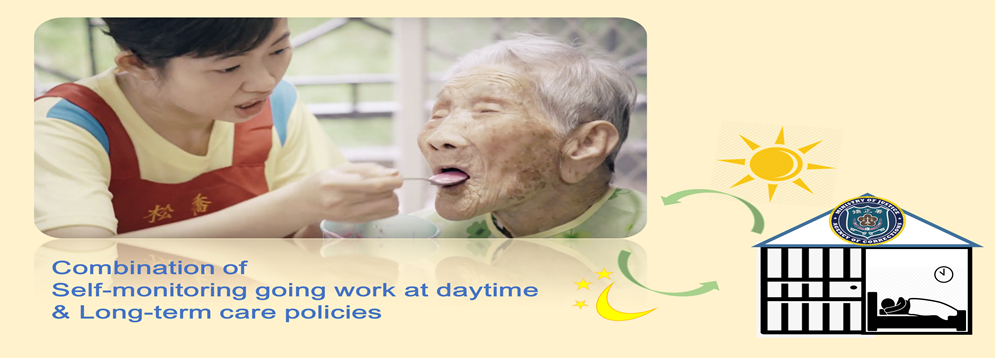 Successful cases of self-monitoring going work at daytime and Long-term care policies